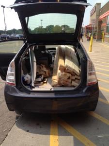 wood in Prius