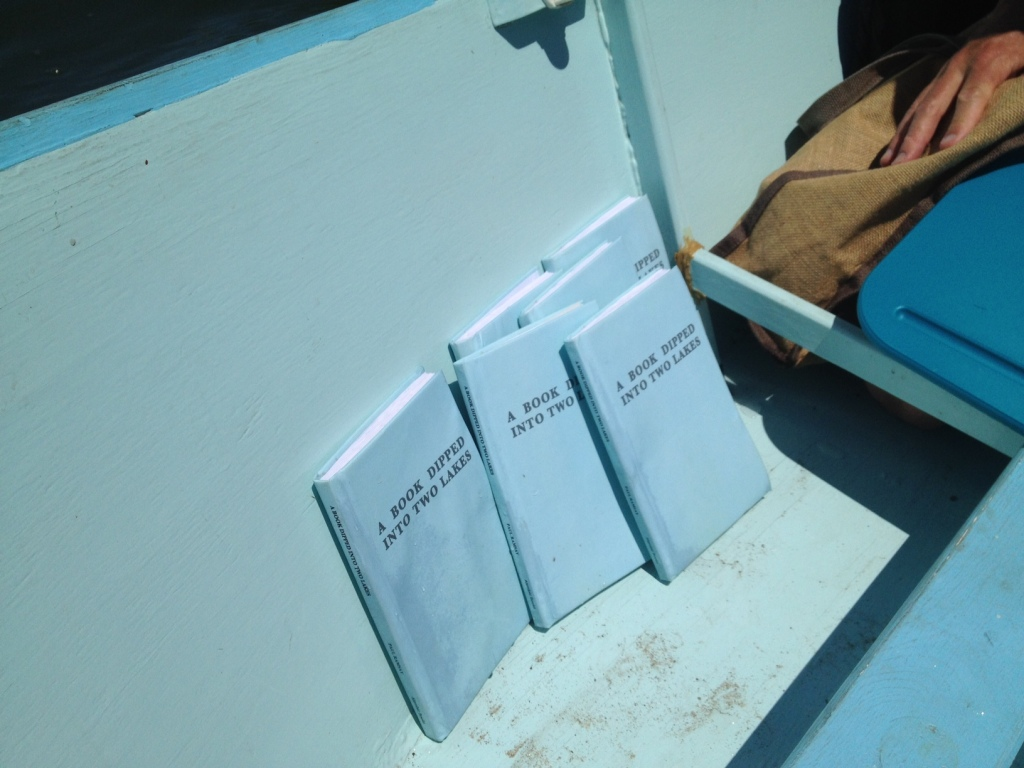 Books drying out in the Sea Clamp after their dip in Silver Lake.