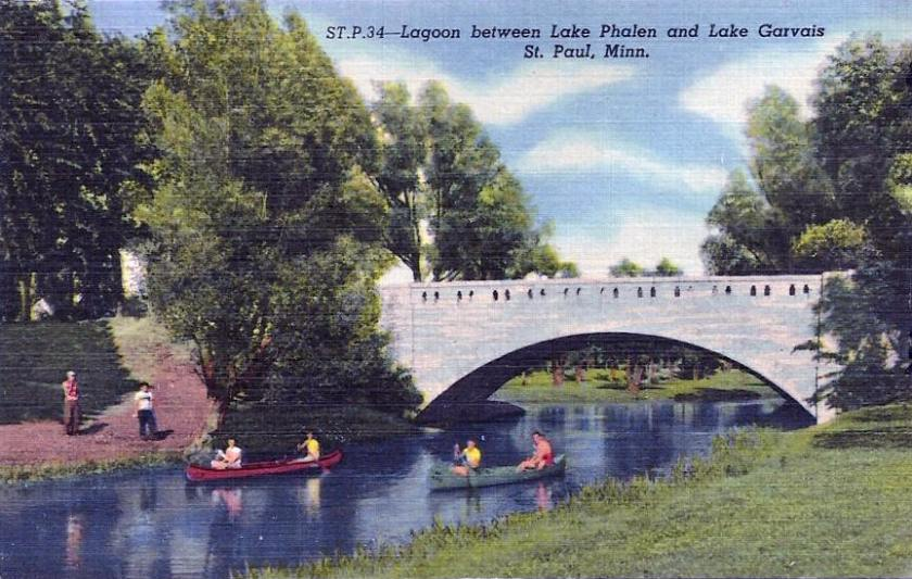 Lake Phalen circa 1940's. Postcard from LakesnWoods.com