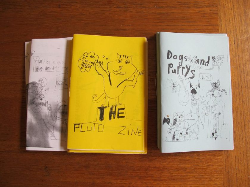 Zines by Astrid, age 9.